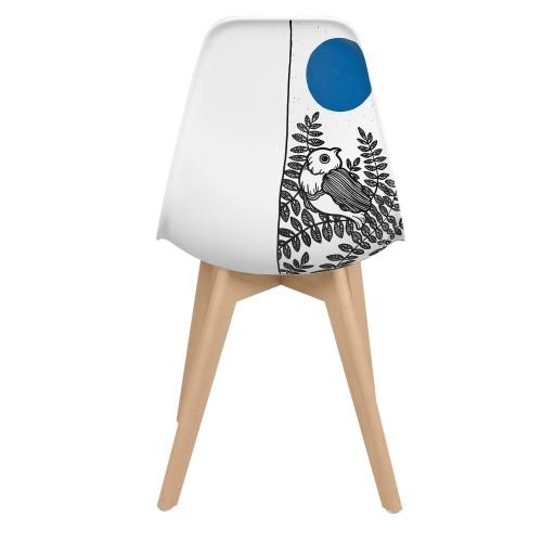 acheter chaise confortable artiste bleue
