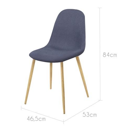 chaise fredrik bleu gris commandez nos chaises fredrik bleu gris petit prix rendez vous d co. Black Bedroom Furniture Sets. Home Design Ideas