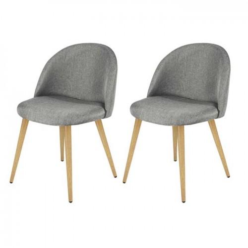 chaise cozy gris clair lot de 2 d couvrez nos chaises cozy gris clair lot de 2 rdv d co. Black Bedroom Furniture Sets. Home Design Ideas