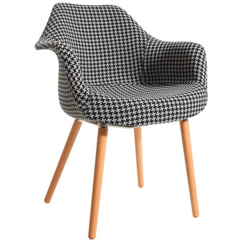 acheter chaise confortable motifs pied de poule