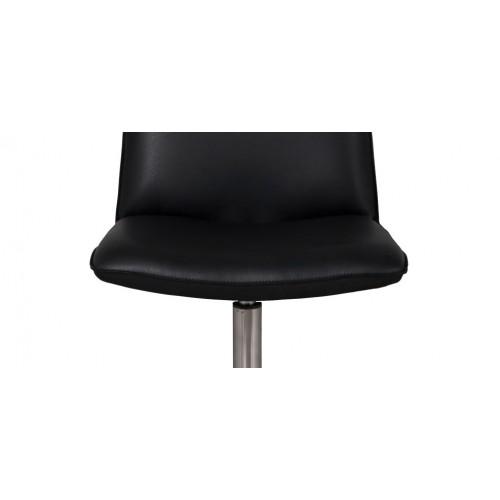 acheter chaise cuir noir pied metal - Chaise Cuir Noir