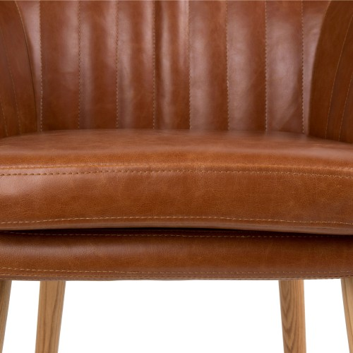 Chaise pike cognac adoptez nos chaises pike cognac for Chaise cuir pied bois