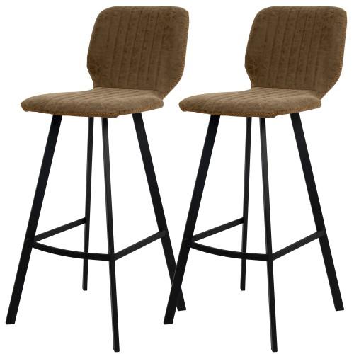 acheter chaise de bar design vintage tissu