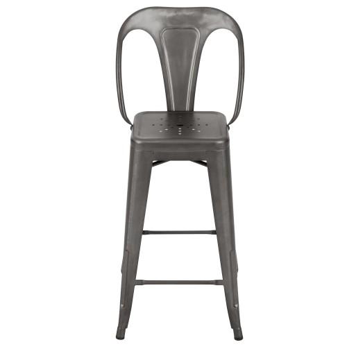 Chaise de bar Indus gris acier 66 cm (lot de 2) : achetez les ...