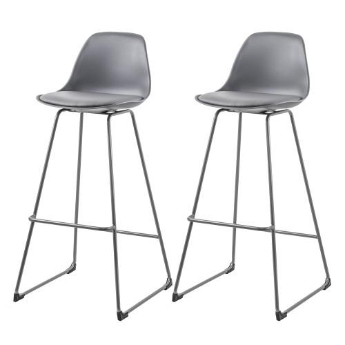 acheter chaise de bar grise simili