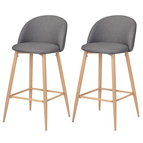 acheter chaises de bar grises