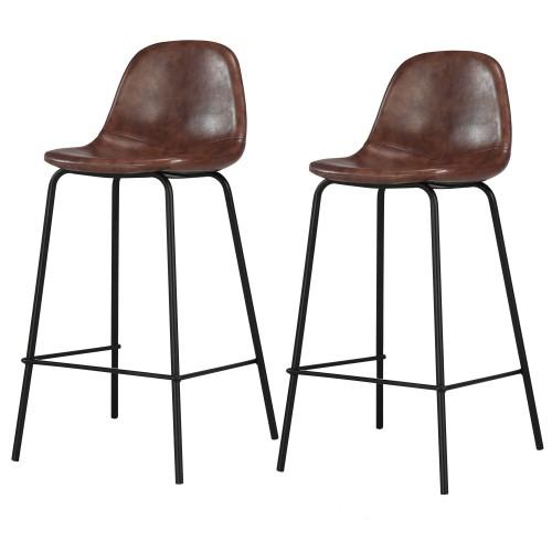 acheter chaise de bar marron pieds metal
