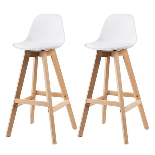 acheter chaise de bar scandinave blanche