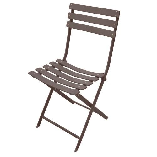 acheter chaise de jardin confortable taupe