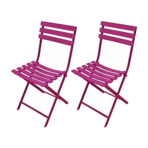 acheter chaise de jardin framboise