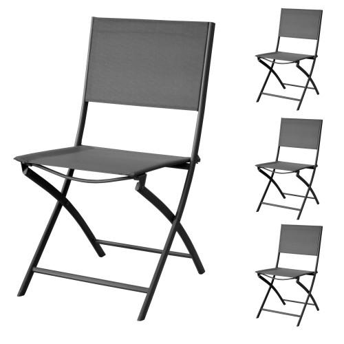 acheter chaise de jardin gris 4