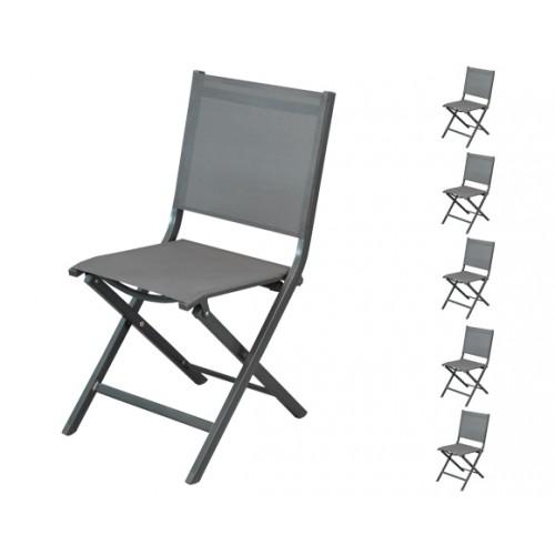 acheter chaise de jardin grise foncee par 6