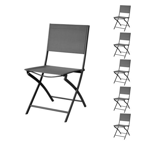 acheter chaise de jardin grise