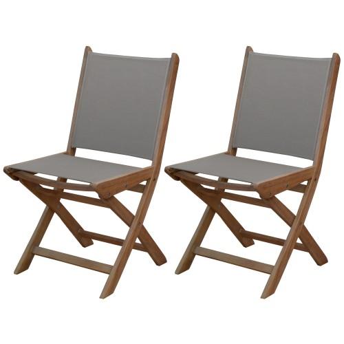 acheter chaise de jardin lot de 2