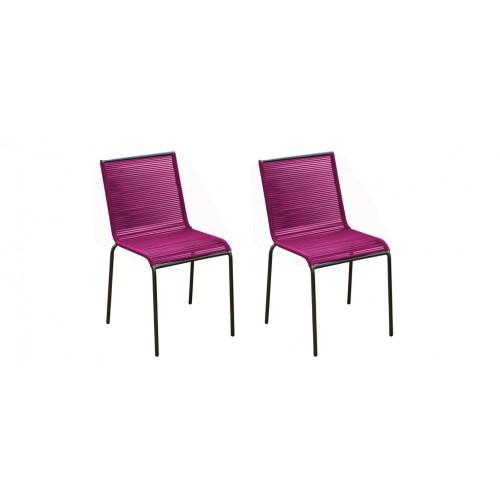 Chaise de jardin Chacabuco rose ( lot de2) : détendez vous dans ...