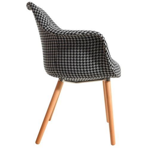 acheter chaise design motif tissu