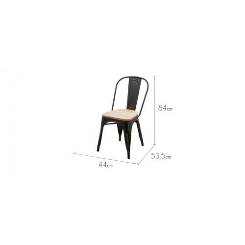 Chaise kisa noire lot de 2 achetez nos chaises kisa for Acheter chaise design