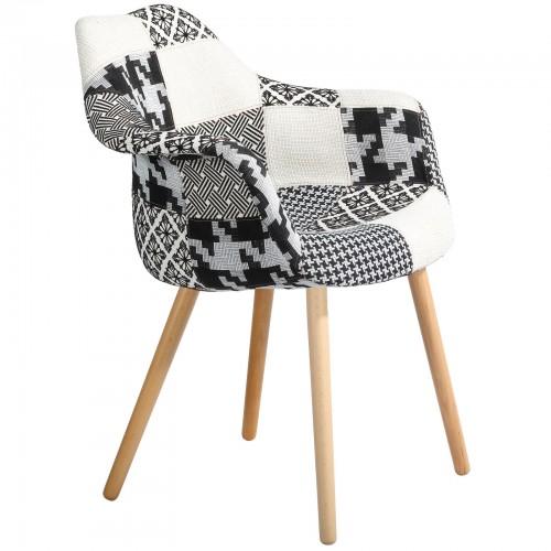 Chaise anssen patchwork grise achetez les chaises anssen for Acheter chaise design
