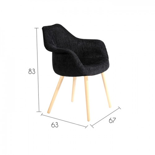 Chaise anssen noire achetez nos chaises anssen noires for Acheter chaise design