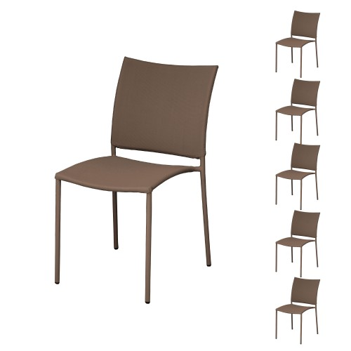 acheter chaise empilable cafe lot de 6