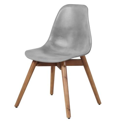 acheter chaise en beton gris