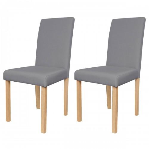 Chaise Havane lin gris lot de 2 achetez nos chaises Havane lin