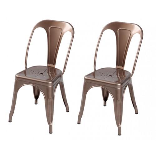 acheter chaise industrielle cuivre