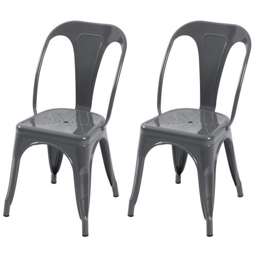 acheter chaise indus gris clair