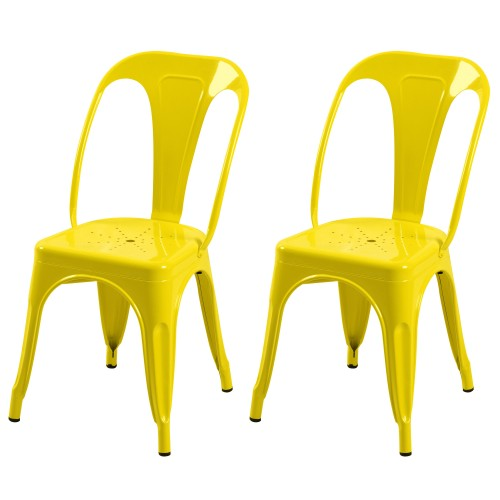 Chaise Indus jaune (lot de 2)