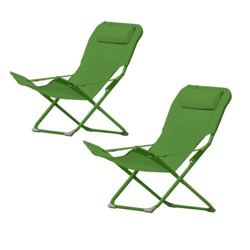 acheter chaise longue verte confortable