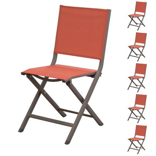 Acheter Chaise Lot De 6 Terracotta