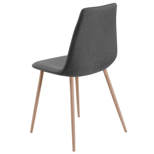 Chaise aleksi grise lot de 2 d couvrez nos chaises for Chaise 1er prix