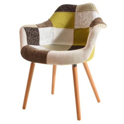 acheter chaise patchwork pieds bois