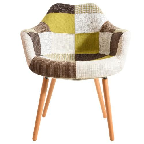 acheter chaise patchwork verte
