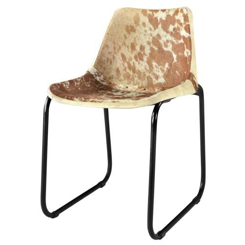 Acheter Chaise Peau Metal Design