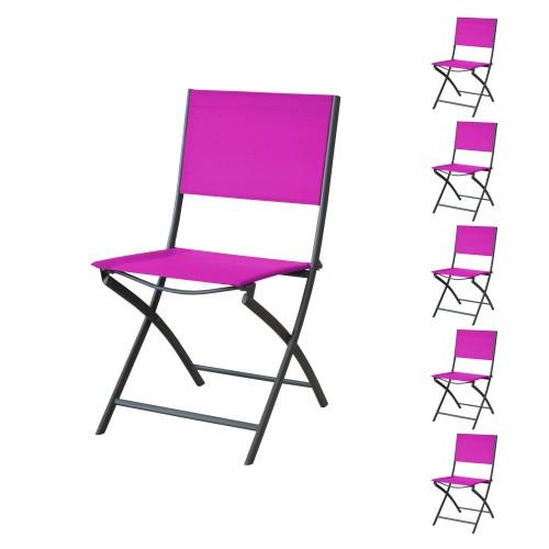 acheter chaise pliante fuschia