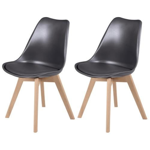 acheter chaise scandinave gris foncé