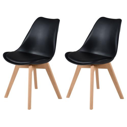 acheter chaises noires bois prix bas