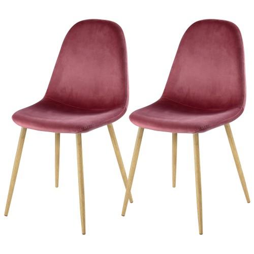 acheter chaise scandinave rose velours