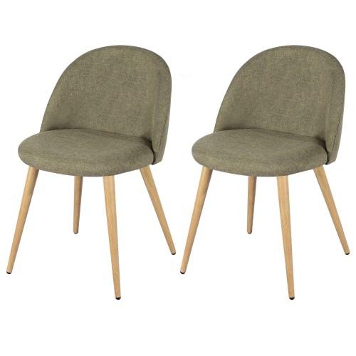 acheter lot de 2 chaises taupes