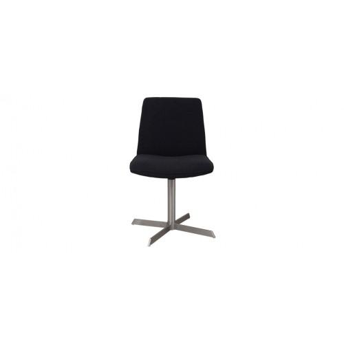 Acheter Chaise Tissu Noir Pied Metal