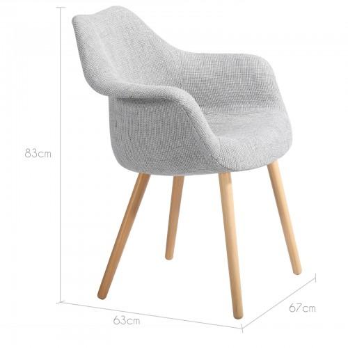 acheter chaise tissus gris
