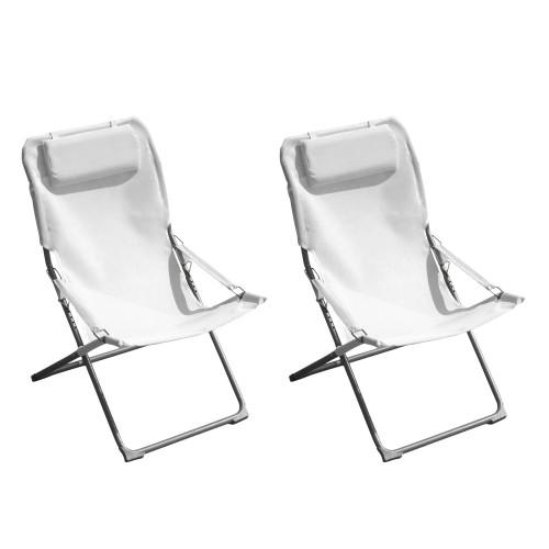Acheter Chaise Transat Blanc Jardin