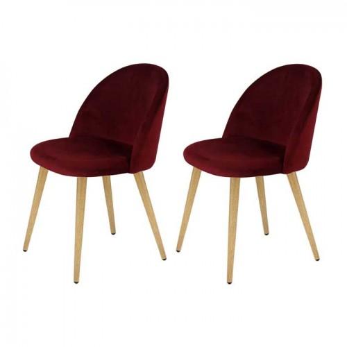 acheter chaise velours bordeaux