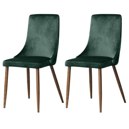 acheter chaise velours vert