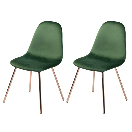 acheter chaise verte velours pieds laiton