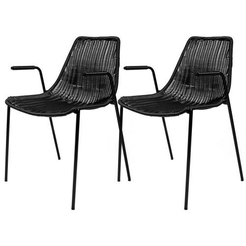 acheter chaises resine tressee noires