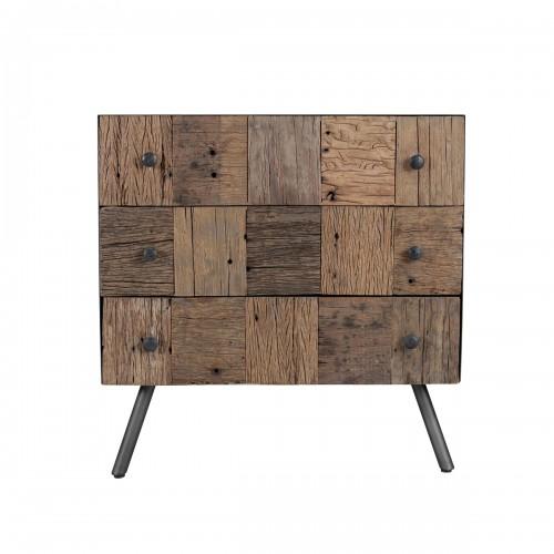 acheter commode en bois recycle pieds metal