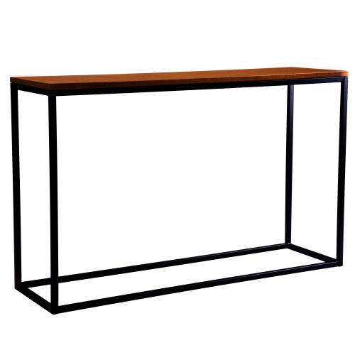 acheter console bois fonce et metal