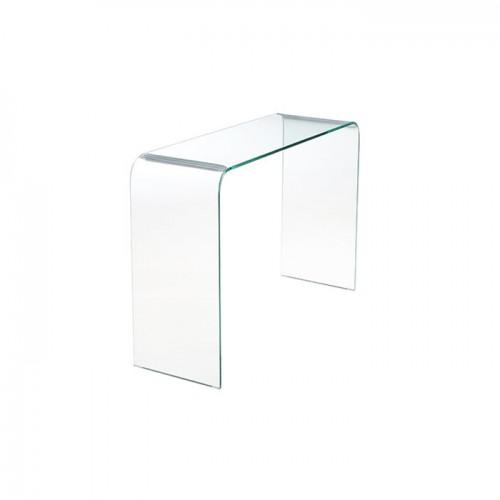 acheter console en verre transparent 110 cm